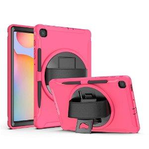 Samsung Galaxy Tab S6 Lite Håndværker Case m. Håndholder & Penholder - Pink