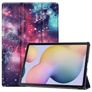 "Samsung Galaxy Tab S7 Plus 12.4"" Læder Cover m. Ståfunktion - Purple Cosmic Space"