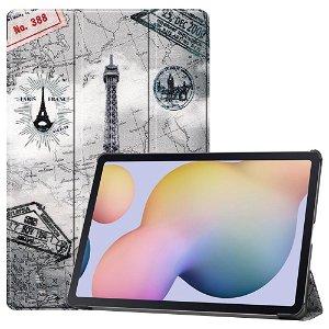 "Samsung Galaxy Tab S7 Plus 12.4"" Læder Cover m. Ståfunktion - Eiffeltårnet"