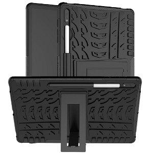 Samsung Galaxy Tab S7+ (Plus) Dækspor Cover m. Pen Holder & Kickstand - Sort