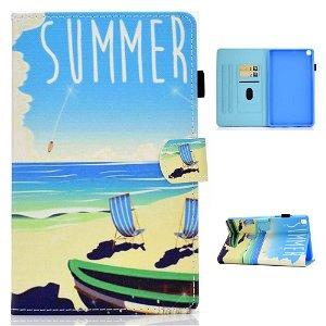"Samsung Galaxy Tab A7 10.4"" (2020) Cover m. Ståfunktion & Kortholder - Strand"
