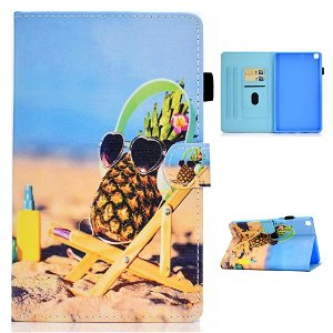 "Samsung Galaxy Tab A7 10.4"" (2020) Cover m. Ståfunktion & Kortholder - Ananas"