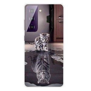 Samsung Galaxy S21 TPU Plastik Cover - Reflekterende Kat