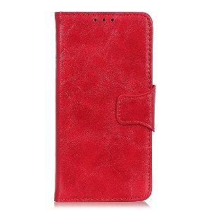 Huawei P Smart Z Neutralt Læder Cover m. Kortholder Rød
