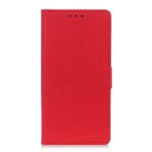 Huawei P Smart Z Læder Cover m. Kortholder Rød