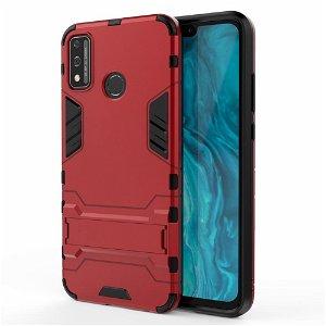 Huawei Honor 9X Håndværker Case m. Kickstand - Rød