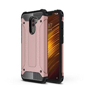 Xiaomi Pocophone F1 Armor Guard Hard Case Cover Rose Gold