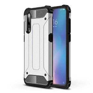 Xiaomi Mi 9 Armor Guard Håndværker Case - Sølv