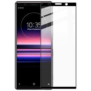 IMAK Sony Xperia 5 Panserglas Full Fit - Sort Kant