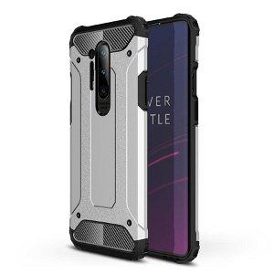 OnePlus 8 Pro Armor Guard Hard Case Håndværker Case - Sølv