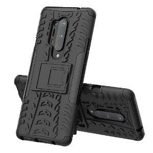 OnePlus 8 Pro Hybrid Håndværker Case m. Kickstand - Sort