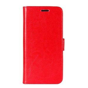 OnePlus 8 Pro Neutralt Læder Cover m. Kortholder Rød