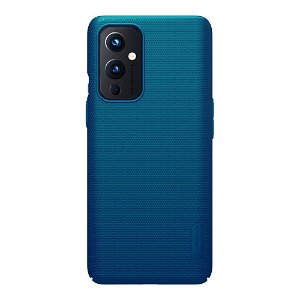OnePlus 9 NILLKIN Frosted Shield Cover inkl. Stander - Blå