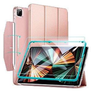 "iPad Pro 12.9"" (2021) ESR Ascend Tri-Fold Case m. Skærmbeskyttelse - Rose Gold"