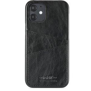 Holdit iPhone 12 Pro / 12 Bagside Cover m. Kortholder - Sort