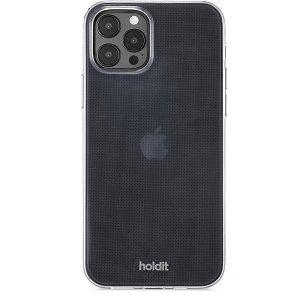 Holdit iPhone 12 / 12 Pro Soft Touch Bagside Cover - Gennemsigtigt