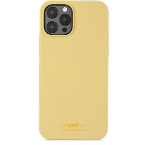 Holdit iPhone 12 / 12 Pro Soft Touch Silikone Cover - Gul