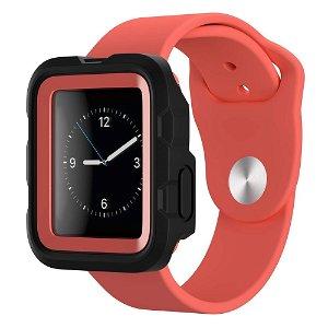 Apple Watch (42mm) Griffin Survivor Tactical Cover - Sort / Rød