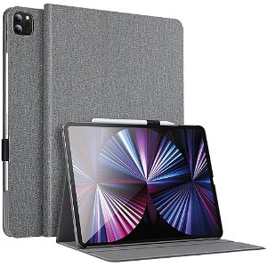 "iPad Pro 11"" (2021 / 2020 / 2018) Cover - ESR Urban Premium Series Slim Book w. Apple Pencil Holder - Grå"
