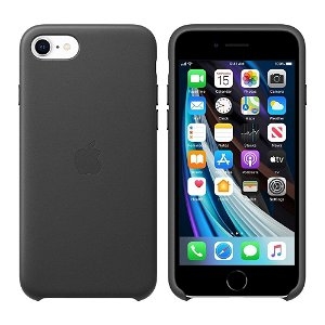 Original Apple iPhone SE (2020) Leather Case Cover Black (MXYM2ZM/A)