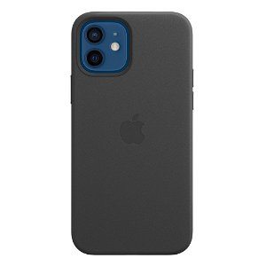 Original Apple iPhone 12 | 12 Pro Læder MagSafe Cover Sort (MHKG3ZM/A)