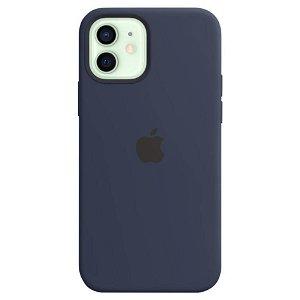 Original Apple iPhone 12 | 12 Pro Silikone MagSafe Cover Blå (MHL43ZM/A)