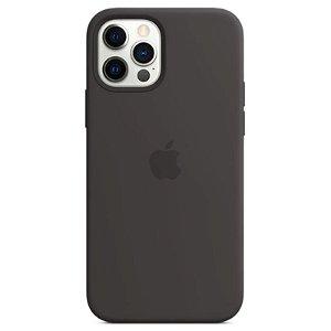 Original Apple iPhone 12 | 12 Pro Silikone MagSafe Cover Sort (MHL73ZM/A)