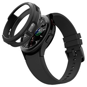 Samsung Galaxy Watch 4 Classic (42mm) Spigen Liquid Air Plast Cover - Sort
