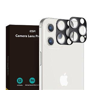 iPhone 12 Pro ESR Beskyttelsesglas til Kameralinse - 2-pak - Sort