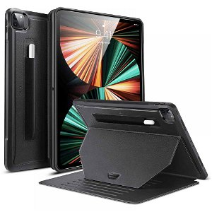 "iPad Pro 12.9"" (2021-2018) ESR Sentry Stand Case m. Apple Pencil Holder - Sort"
