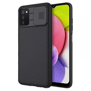 Samsung Galaxy A03s Nillkin Camshield Case - Sort