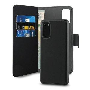 Puro Detachable Samsung Galaxy S20 2-In-1 Wallet Læder Cover - Sort