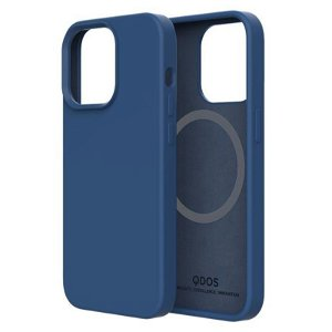 QDOS iPhone 13 Touch Pure SNAP Bagside Cover - MagSafe Kompatibel - Blå