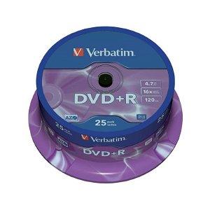 Verbatim DVD+R 16X m. 4,7GB - 25 Stk.