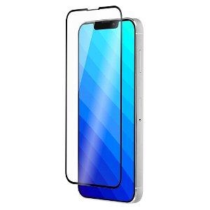 QDOS iPhone 13 Mini OptiGuard Curved Glass Skærmbeskyttelse - Case Friendly - Sort Kant
