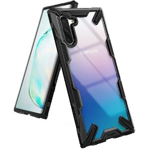 Ringke Fusion X Samsung Galaxy Note10 Cover - Gennemsigtig / Sort
