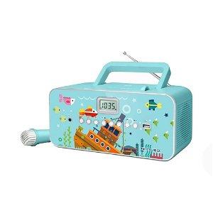MUSE Transportabel Karaoke Radio til Børn m. Mikrofon Til Karaoke - Under Water Eventyr
