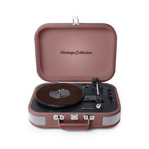 MUSE  Vintage Bluetooth Stereo MT-201 Pladespiller - Vintage Pink