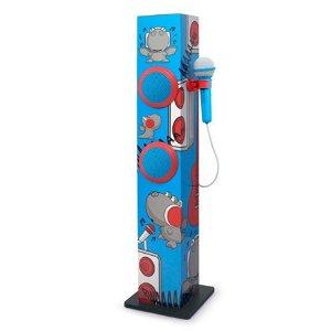 MUSE Karaoke Bluetooth Højttaler til Børn m. Mikrofon - Rød & Blå Drage