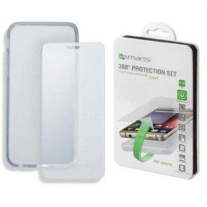iPhone SE (2020)/8/7 4smarts  Komplet Beskyttelsese (Cover + Hærdet Glas)