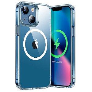 iPhone 13 ESR Hybrid HaloLock Magsafe Kompatibel Bagside Case - Gennemsigtig / Sølv