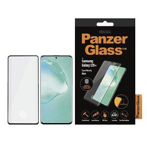 Samsung Galaxy S20+ (Plus) PanzerGlass Fingerprint Panserglas - Case Friendly m. Sorte Kanter