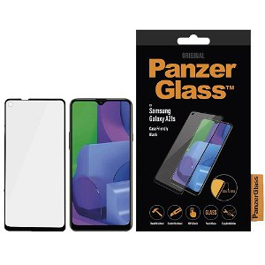 Samsung Galaxy A21s PanzerGlass Edge-To-Edge Skærmbeskyttelse - Case Friendly - Sort