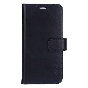 RadiCover 2-in-1 - iPhone 13 - Ægte Læder Flip Case - 86% Strålingsbeskyttelse - Sort