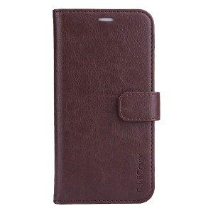 RadiCover 2-in-1 - iPhone 13 - Kunst Læder Flip Case - 86% Strålingsbeskyttelse - Mørkebrun