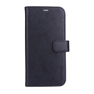 iPhone 13 Pro RadiCover - Kunst Læder Flip Cover - 86% Strålingsbeskyttelse - Sort