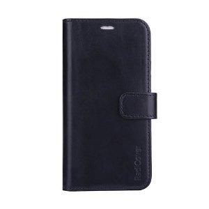 RadiCover - 2-in-1 iPhone 13 Pro - Ægte Læder Cover - 86% Strålingsbeskyttelse - Sort