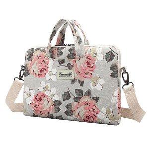 """Canvaslife Briefcase Taske Til MacBook / PC 15-16"""" - White Rose"""