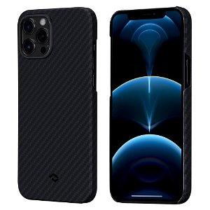 PITAKA iPhone 12 Pro Max MagEZ Cover - MagSafe Kompatibel - Sort / Grå Twill