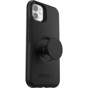 iPhone 11 OTTERBOX + POPSOCKETS Symmetry Series Håndværker Cover m. Indbygget PopGrip - Sort